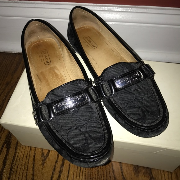 Coach Womens Loafers Black Size 7m
